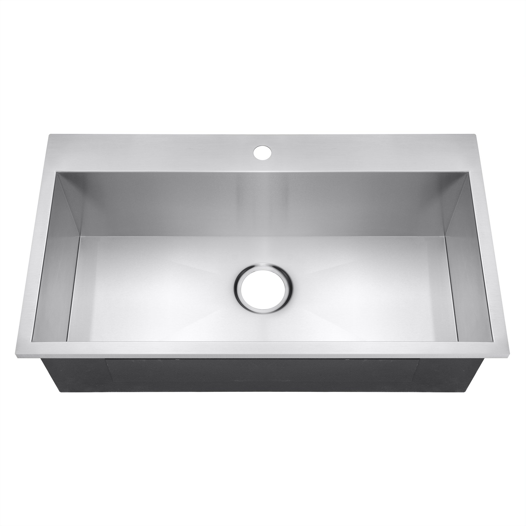 Golden Vantage 32'' x 18'' x 9'' Handmade Top Mount Single Bowl Drop-In 18 Gauge Stainless Steel Kitchen Sink by Golden Vantage