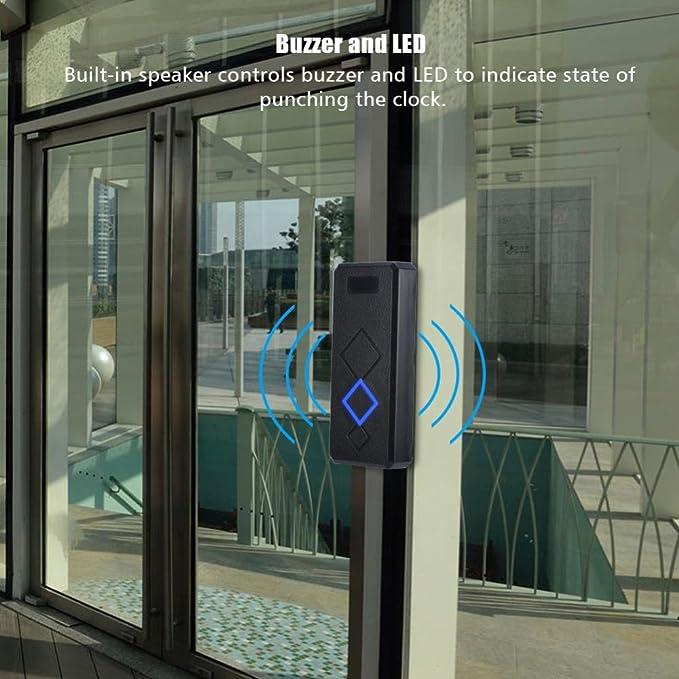 Vbestlife Lector de RFID de Control de Acceso Anti-Interferencia Lector de Tarjetas de Puerta de Identificación de Alta Sensibilidad Altavoz Incorporado (EM): Amazon.es: Electrónica