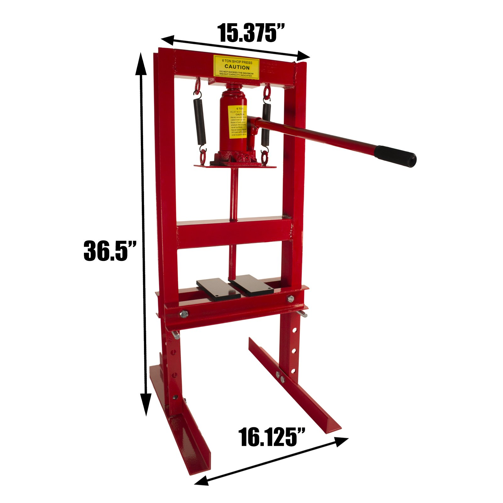 Dragway Tools 6-Ton Hydraulic Shop Floor Press with Press Plates and H Frame is Ideal for Gears and Bearings by Dragway Tools (Image #2)