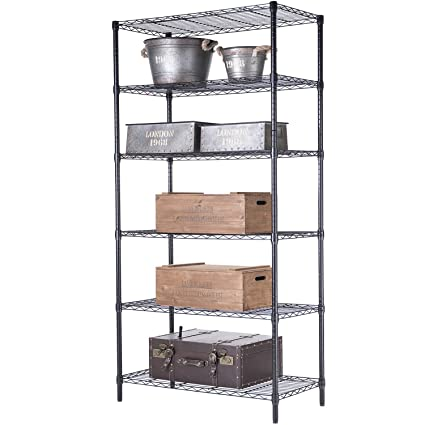 singaye storage shelves heavy duty storage rack with adjustable leveling feet 6 shelves - Heavy Duty Storage Shelves