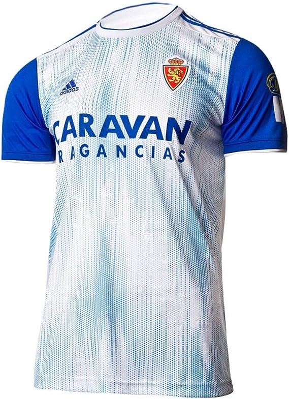 adidas Real Zaragoza Primera Equipación 2019-2020, Camiseta, White-Light Blue, Talla M: Amazon.es: Deportes y aire libre