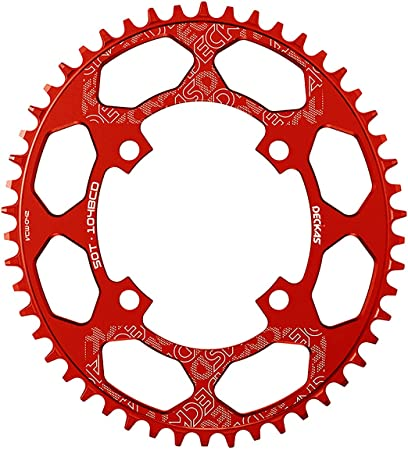 BestPartsCom Round Oval 104BCD 32T 34T 36T 38T 40T 42T 44T 46T 48T 50T 52T Narrow Wide Single Chainring 1X System AL7075 CNC Ultralight Bicycle Bike Chainwheel Chain Ring 8/9/10/11-Speed