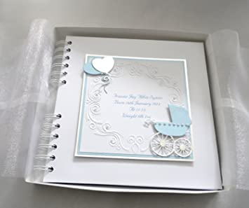 PERSONALISED CHRISTENING NAMING DAY BOXED GUEST BOOK
