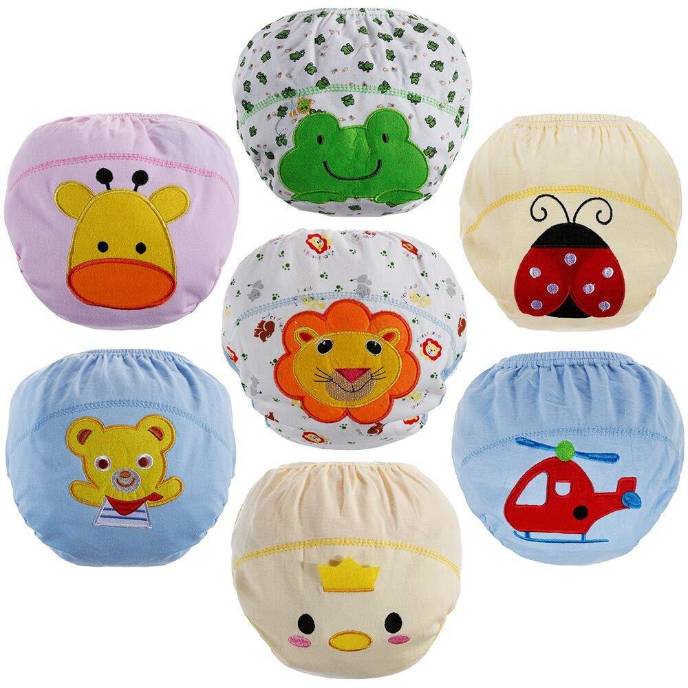Lictin Culottes d'apprentissage Bébé, Culotte Bébé Fille en 100% Coton pour Les Bébé 1.5 à 3 Ans - Lot DE 7