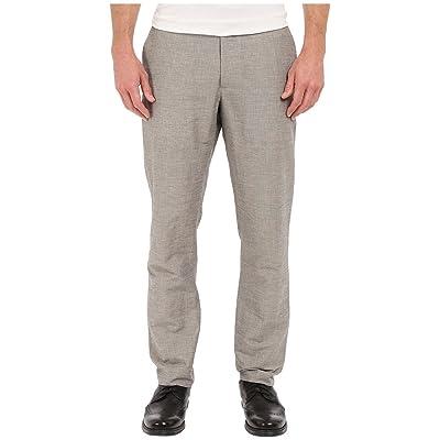 Perry Ellis Men's Slim Fit Linen Cotton End Flat Front Pant at Men's Clothing store