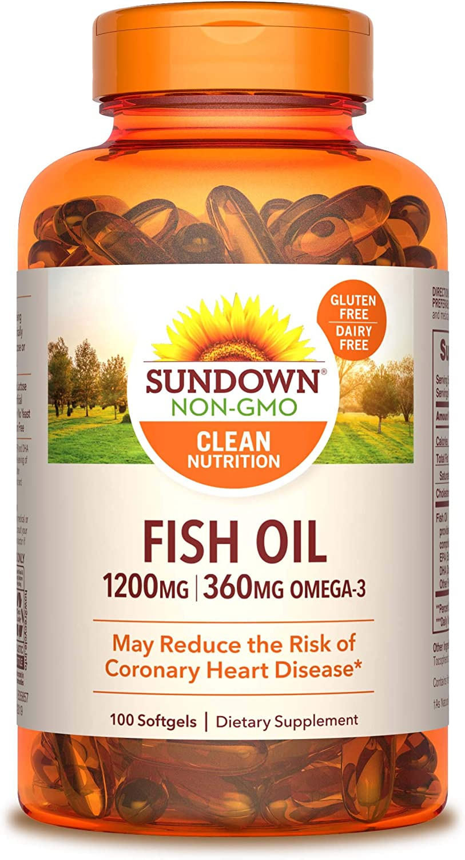 Sundown Fish Oil Extra Strength 1200 mg, 100 Softgels