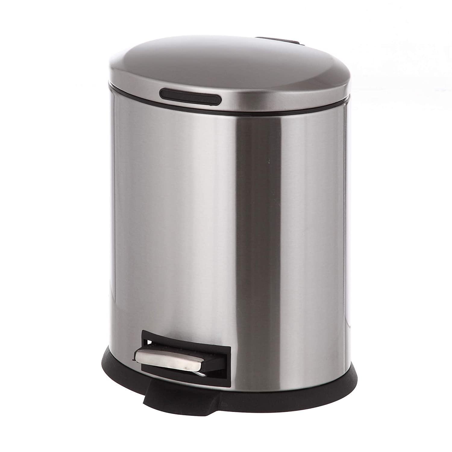 Amazoncom Home Zone Stainless Steel Kitchen Trash Can With Oval