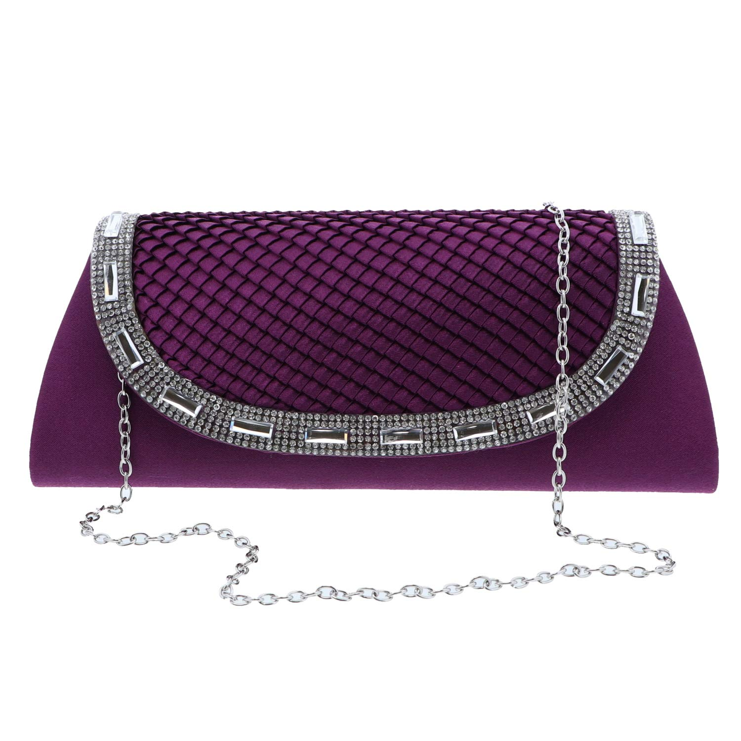 Satin Evening Purse With...
