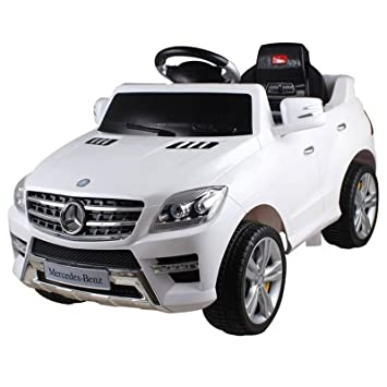 mercedes benz ml 350 6v kids ride on toy car battery powered wheels white