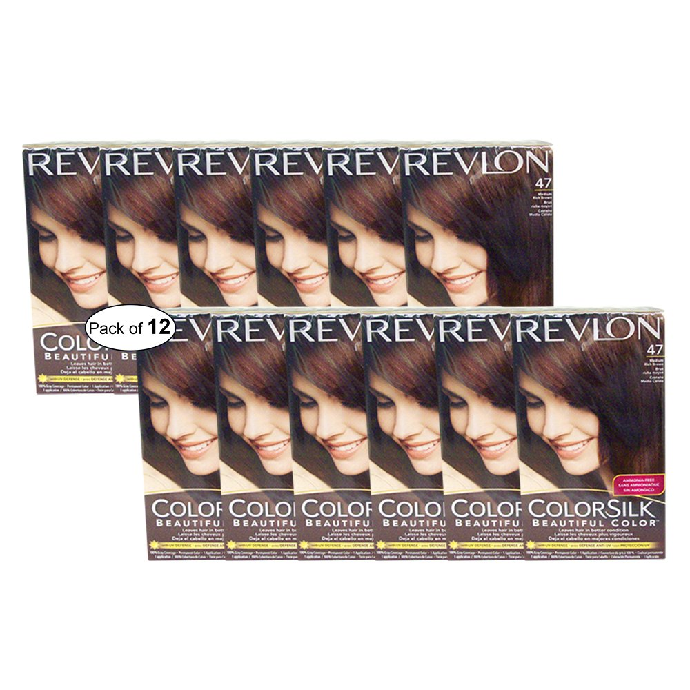Revlon Hair Color Medium Rich Brown(47) (Pack of 12)