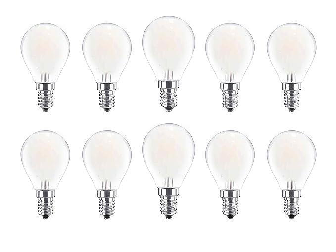 DYA - Juego de 10 bombillas de filamento LED, tipo esfera G45, 4 W