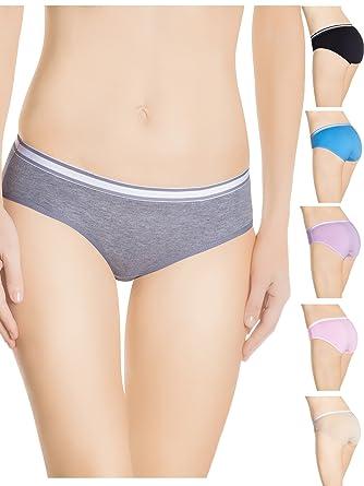 71J%2BX5jTiQL._UY445_ nabtos cotton underwear womens panties hipster white waistband,Womens Underwear Amazon