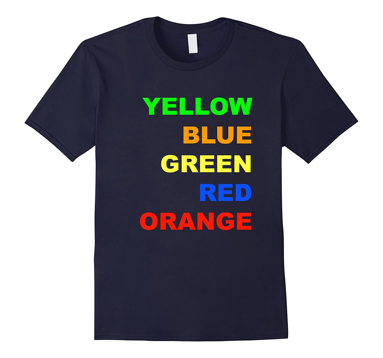 CONFUSED T SHIRT Fun Tee Reaction Colors Tee-FL