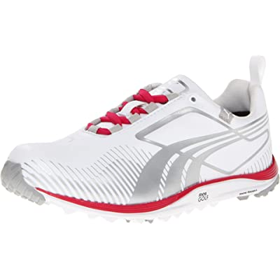 Puma Golf Footwear Womens Faas Lite Shoe, White/Puma Silver, 7 B US | Golf