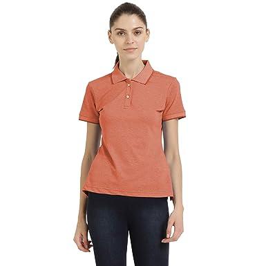 8bc5ac20f5 CHKOKKO Premium Cotton Half Sleeves Polo Collar Tshirts & Tee Shirt for  Women: Amazon.in: Clothing & Accessories