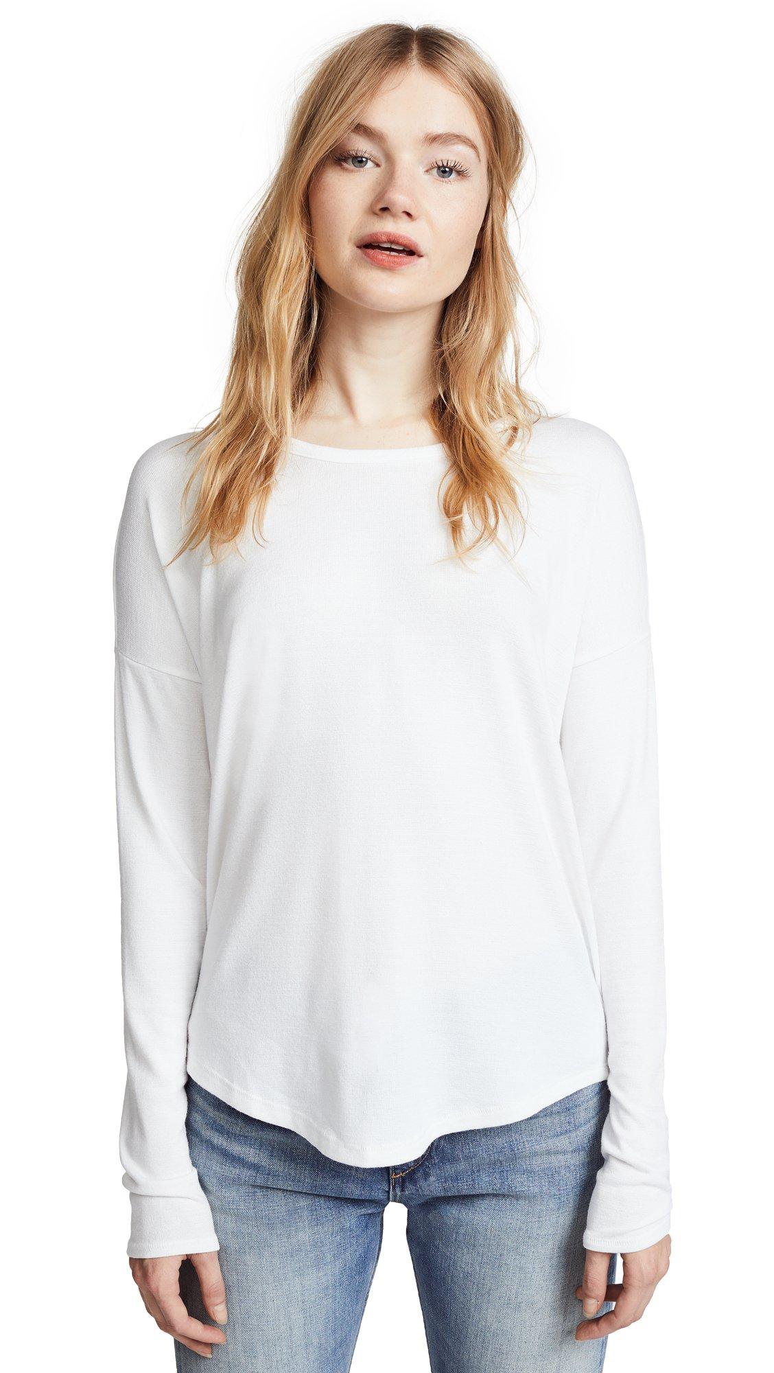 Rag & Bone/JEAN Women's Hudson Pullover, White, Medium