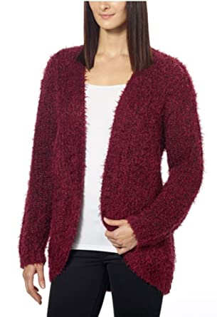 71546d85f5a Kensie Womens Open Front Eyelash Cardigan at Amazon Women s Clothing store