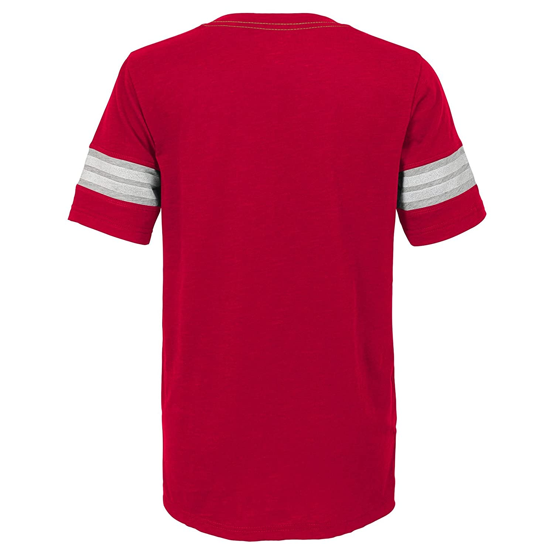 5-6 Kids Medium Outerstuff NFL NFL San Francisco 49ers Kids Prestige Short Sleeve Crew Neck Tee Crimson