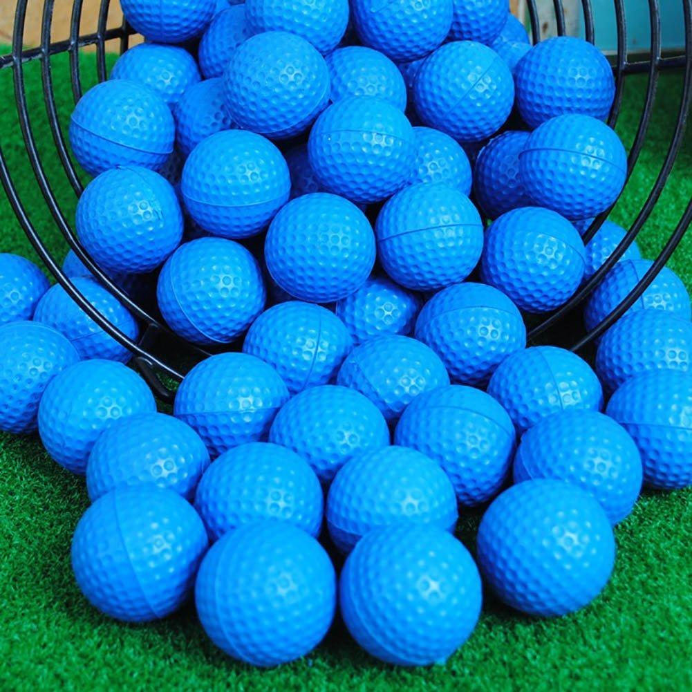 POSMA PB010AUS Golf PU Practice Balls soft balls golf training 24 Count, Blue by POSMA (Image #7)