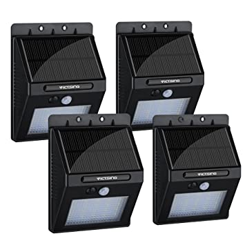 VicTsing 4Pcs 20 LED Solar Motion Sensor Lights  Super Bright Wireless  Waterproof Outdoor Solar PoweredAmazon com   VicTsing 4Pcs 20 LED Solar Motion Sensor Lights  . Exterior Motion Detector Led Lights. Home Design Ideas