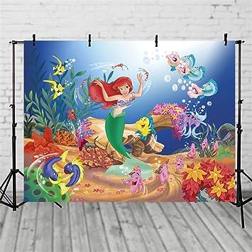 Amazon.com: VV Mermaid - Fondo de fiesta de cumpleaños para ...