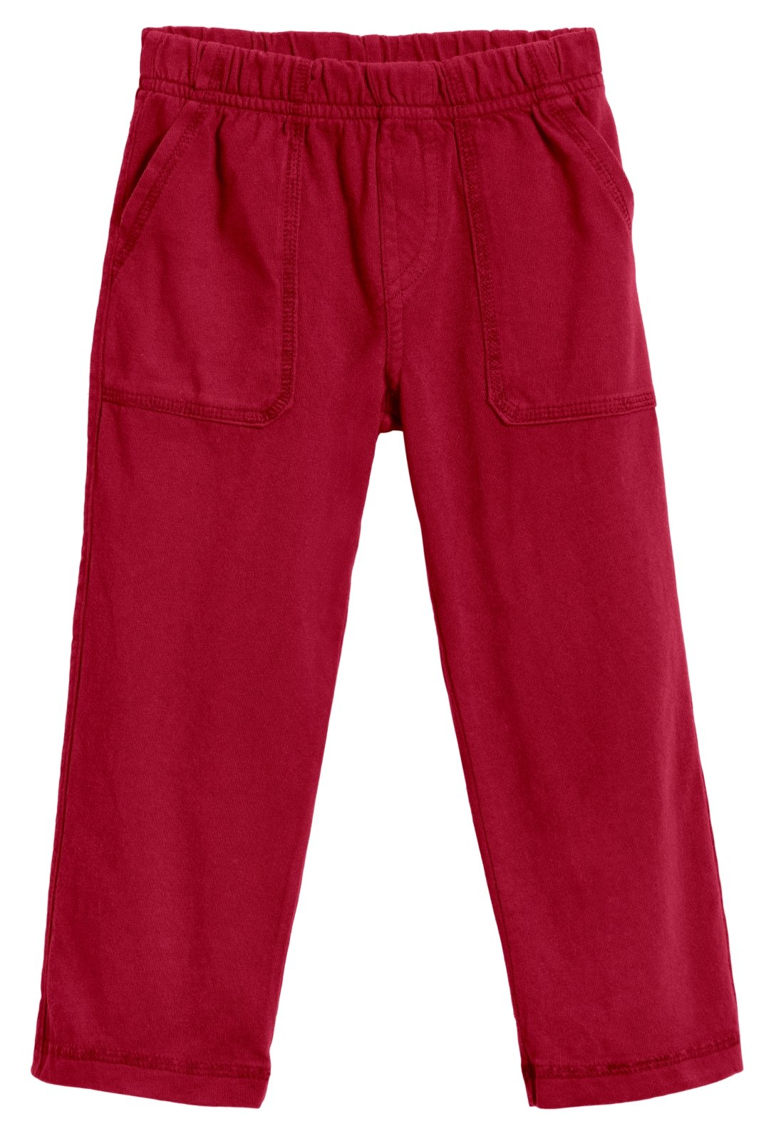 City Threads Little Boys' and Girls' Soft Jersey Tonal Stitch Pant Perfect for Sensitive Skin SPD Sensory Friendly Clothing - Red 4