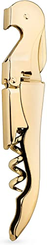 Viski-Belmont-24k-Gold-Plated-Signature-Corkscrew-Wine-Bottle-Opener