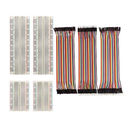 4 UNIDS 830/400 Puntos Mini Sin Soldador Prototipo Breadboard Protoboard PCB Placa de Prueba