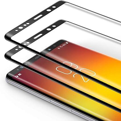 Bewahly Cristal Templado para Samsung Galaxy Note 8 [2 Piezas], 3D Curvado Completa Cobertura Protector Pantalla, 9H Dureza Alta Definicion Vidrio Templado Sin Burbujas para Samsung Note 8 (Negro): Amazon.es: Electrónica