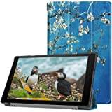 Leather Cover Case for All-New Amazon Fire HD 10 Tablet (7th Generation, 2017 Release) Slim Folding Stand Cover with Auto Wake / Sleep for kindle Fire HD 10.1 Inch Tablet
