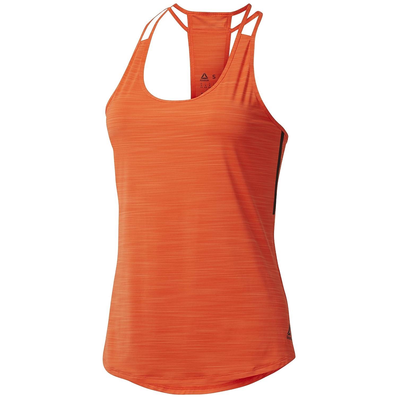 Reebok Damen Activchill Tank Laufbekleidung Tank-Top Orange - Dunkelgrau XL