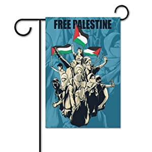 Stop Israel Palestine Conflict Free Gaza Garden Flag Vertical Flags Banner For Spring Summer Yard Garden Outdoor Home Decor