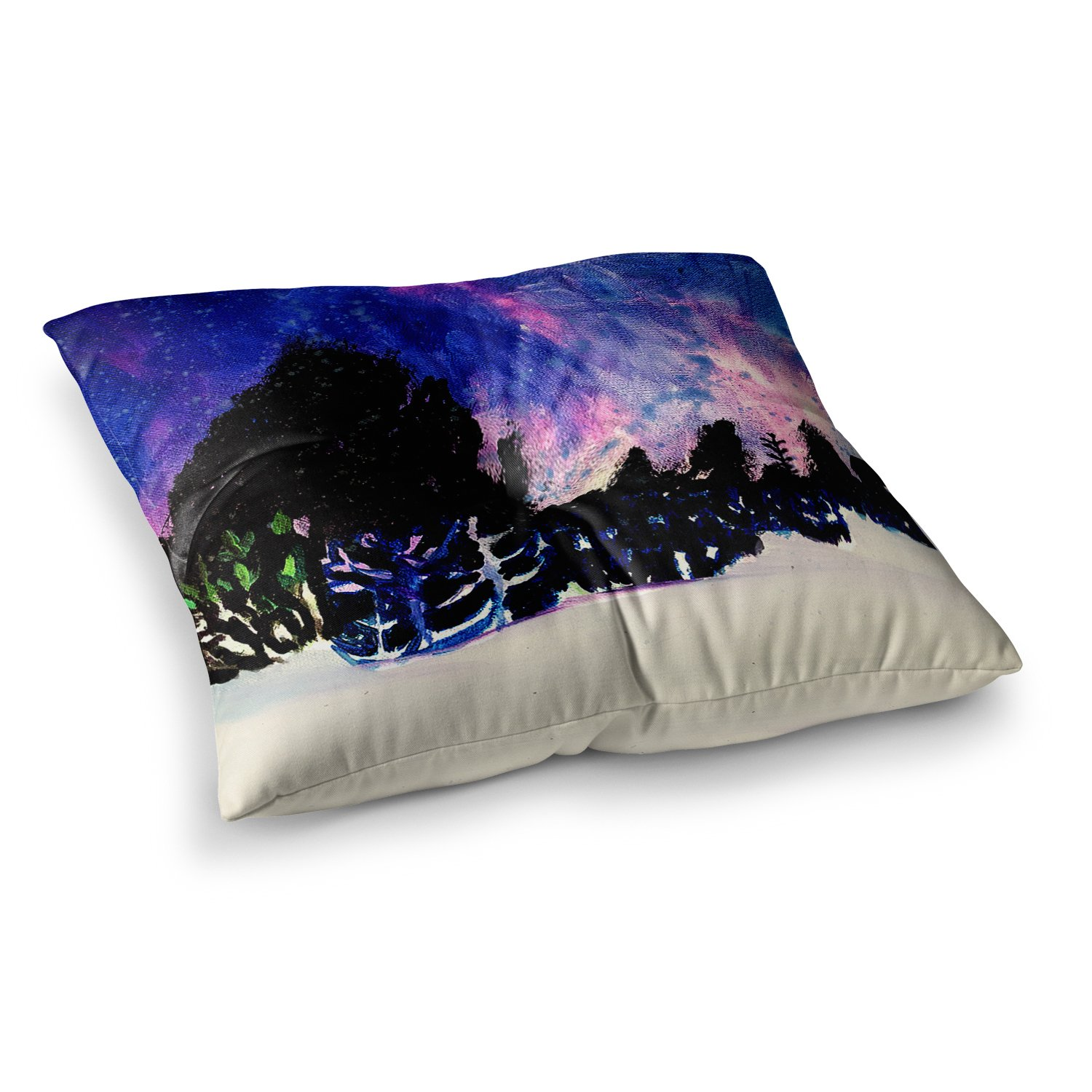 Kess InHouse Theresa Giolzetti First Snow Purple Blue, 23' x 23' Square Floor Pillow
