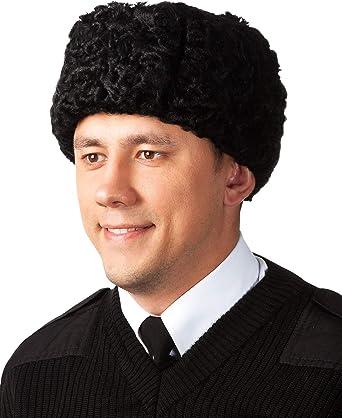 Original Russian Caucasian Kubanka Karakul winter hat Natural Leather