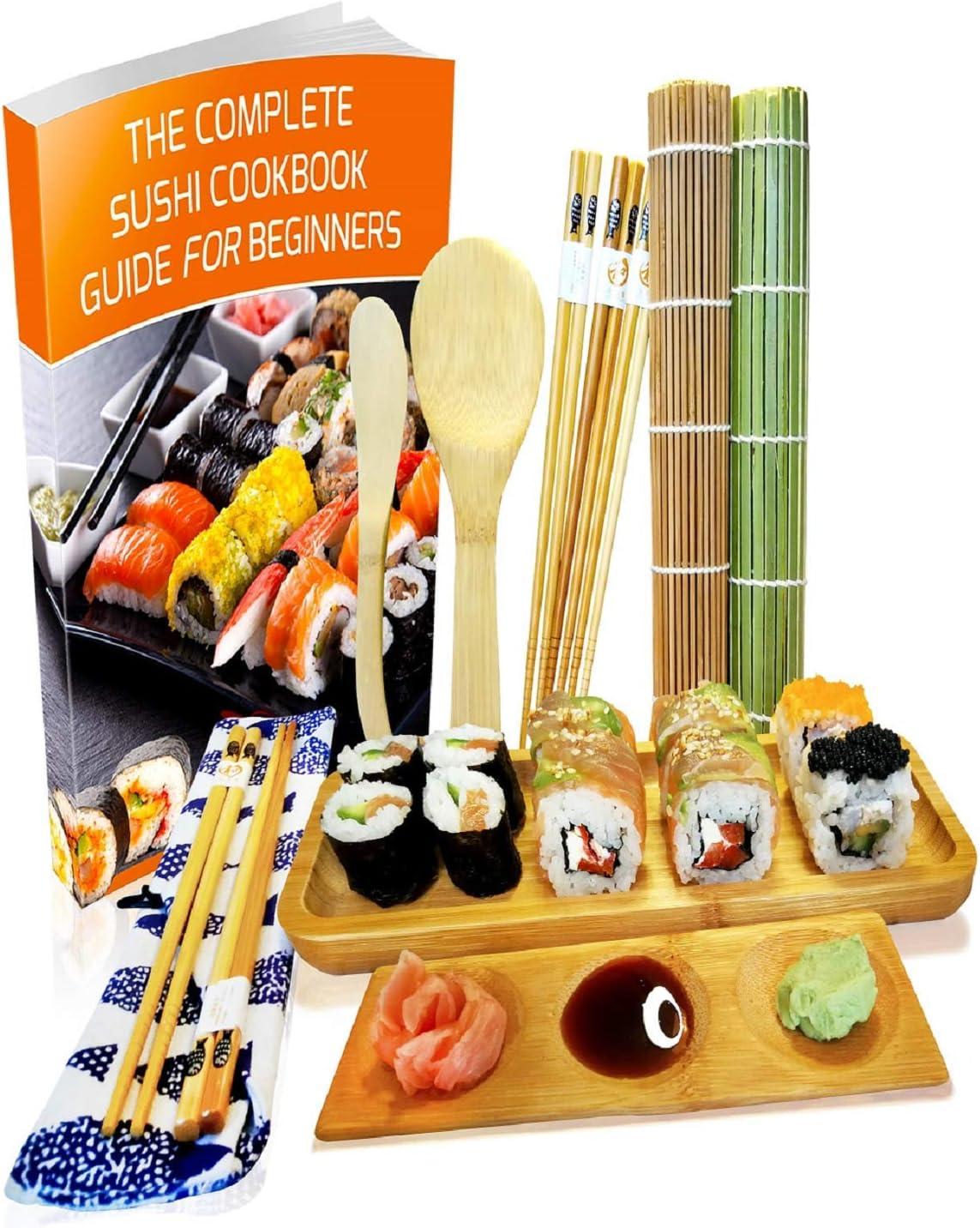 Kit para Hacer Sushi - Esterilla de Enrollar Sushi de Bambú Set de ...