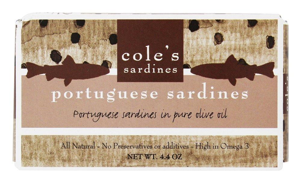 Cole's - Portuguese Sardines in Pure Olive Oil - 4.4 oz. Cole' s