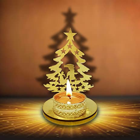 Designer Christmas Decorative Shadow Tea Light Candle Holder / Stand in  Christmas Tree Shape. Christmas - Amazon.com: Designer Christmas Decorative Shadow Tea Light Candle