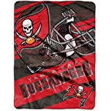 The Northwest Company NFL Tampa Bay Buccaneers Deep Slant Micro Raschel Throw, 46-Inch by 60-Inch