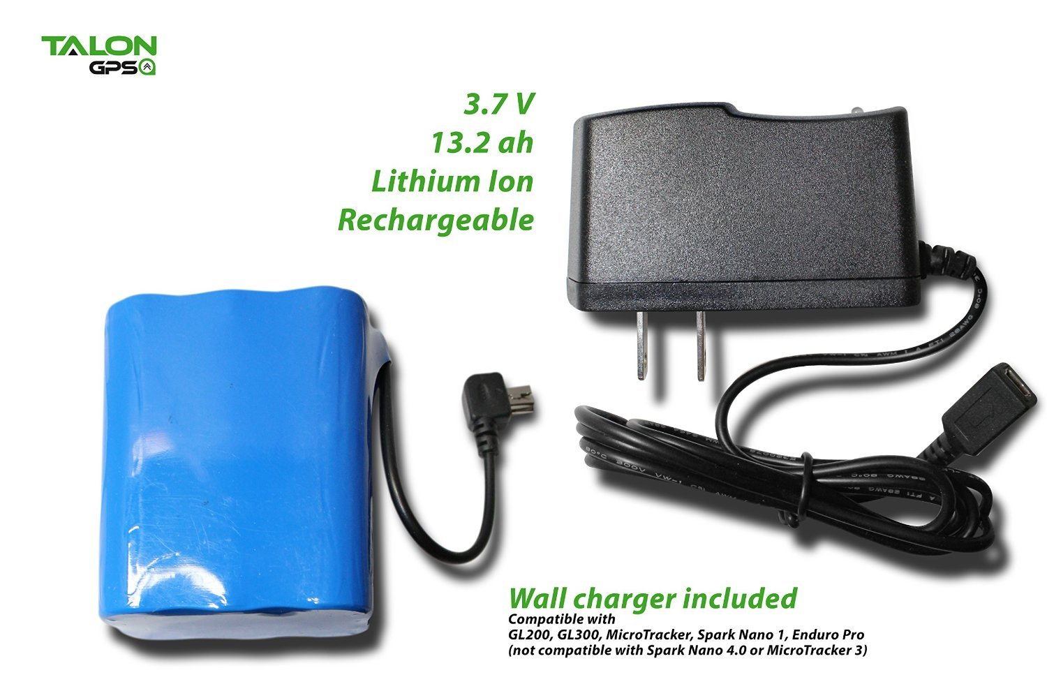 6 Cell Extended Battery Pack and Charger for Spark Nano 3.0, GL200, GL300 and GL300VC by Talon GPS