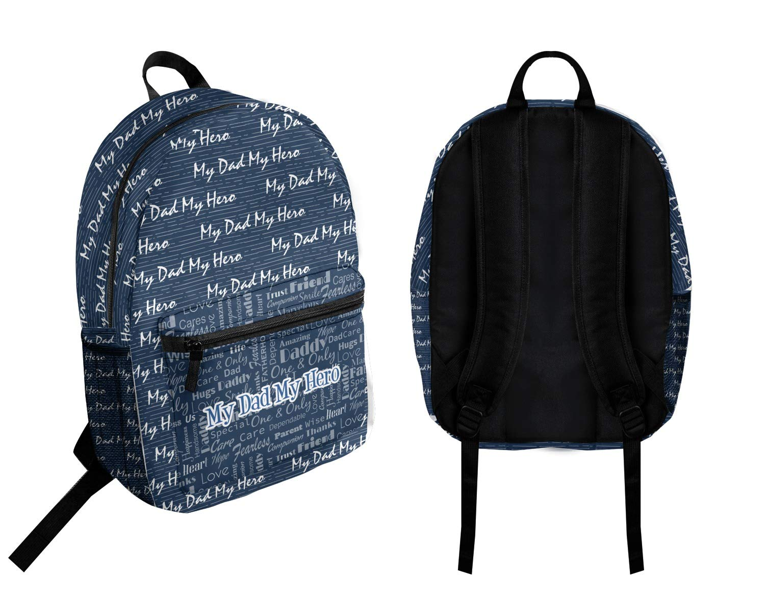 My Father My Hero Student Backpack Personalized