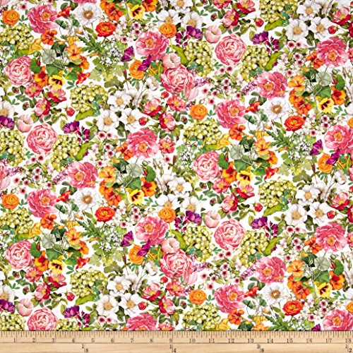 Robert Kaufman Kaufman Everyday Favorites Blossom Flowers Pink Fabric by The Yard,