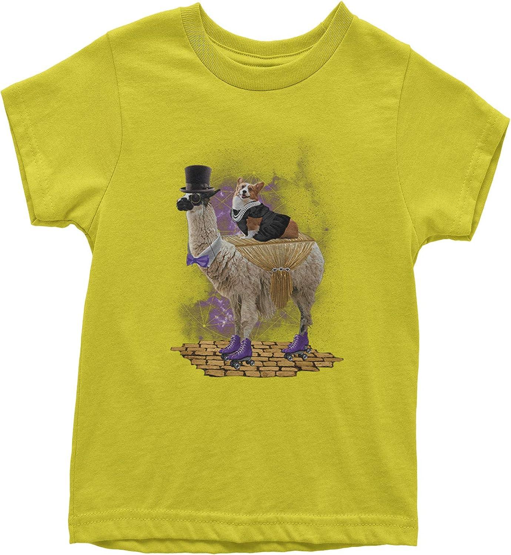 Expression Tees Corgi Riding The Llama Express Youth T-Shirt