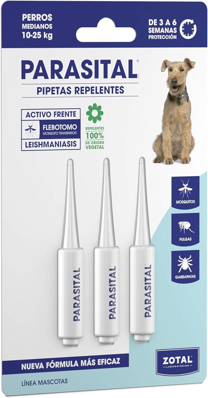 Zotal Parasital Pipetas Antiparasitarias para Perros Medianos de 10 a 25 kg