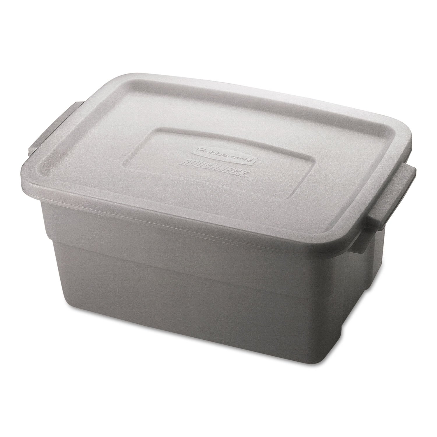 RHP2213STE - Rubbermaid Roughneck Storage Box, 3gal, Steel Gray
