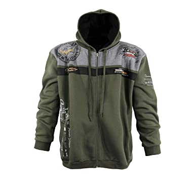 Lavecchia Men s Varsity Jacket Green Khaki  Amazon.co.uk  Clothing f80d52d553