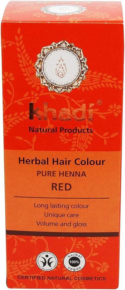 Khadi Pura Henna - Tinte 100% Natural para el Cabello - 1 Ingrediente Icónico - Tinte Color Anaranjado Claro y Castaño Cobrizo - Cubre con Barniz ...