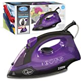 Quest 35360 Classic Variable Temperature Steam Iron with Non-Stick Soleplate and Self Clean Function, 1600 W, Purple