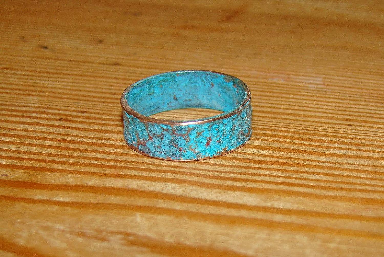 Mens Forged Blacksmith Oxidized Ring Band