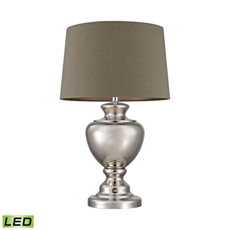 Amazon.com: Spun Metal LED Lamp With Natural Shade: Home ...