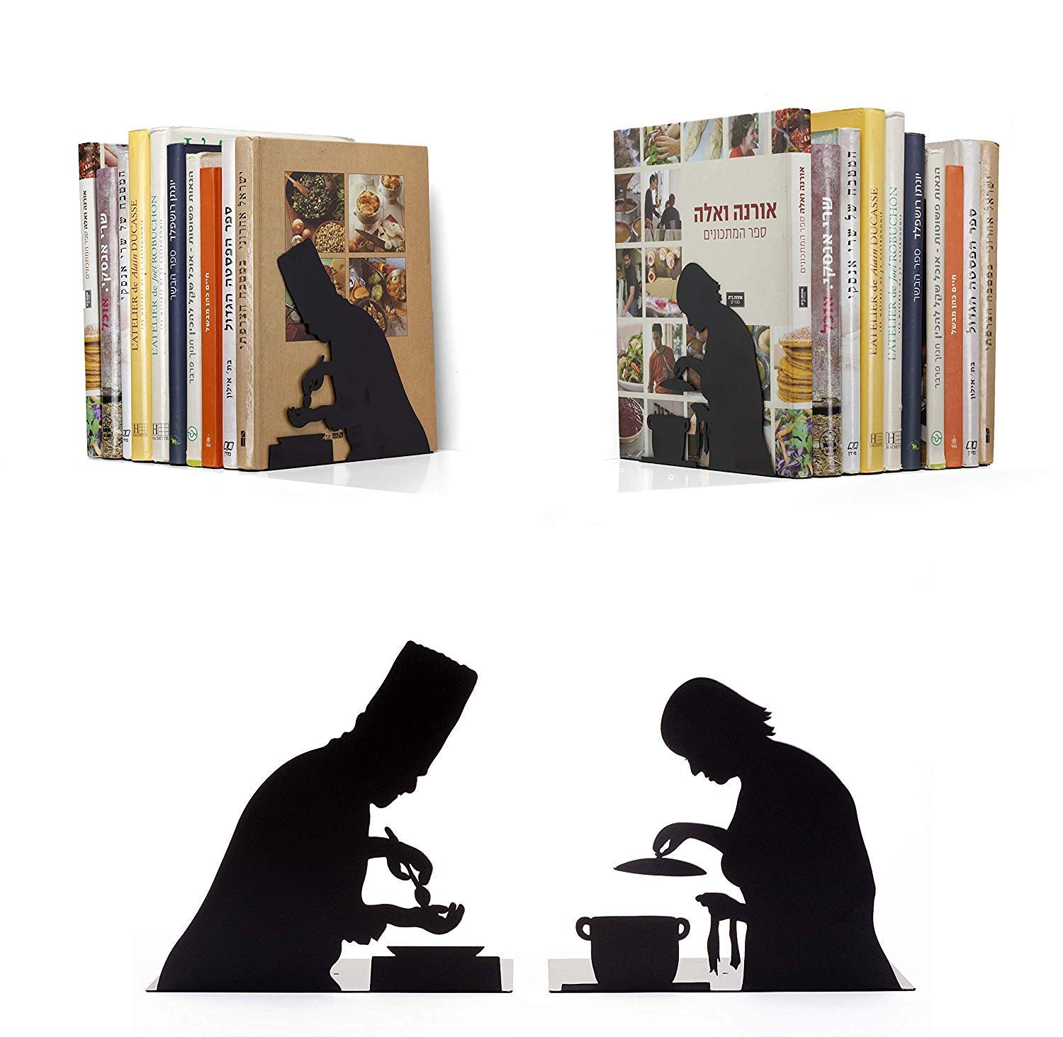 Delicieux Amazon.com: Artori Design| By The Book | Cooking | Decorative Black Metal  Bookend | Two Cooks | Kitchen Bookends | Cooking Books Bookend | Gifts For  Chefs: ...